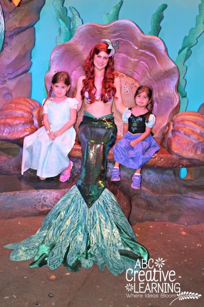 Meeting Ariel at Ariel's Grotto at Mickey's Very Merry Christmas Party