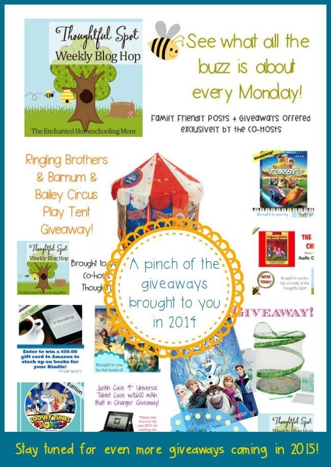 Giveaways of 2014 Brought to you by Thoughtful Spot Weekly Blog Hop