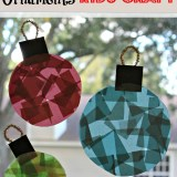 Glass Stained Window Ornament Kids Craft