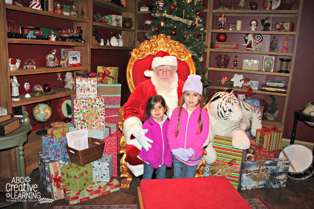 Visiting Santa at Christmas Town Busch Gardens
