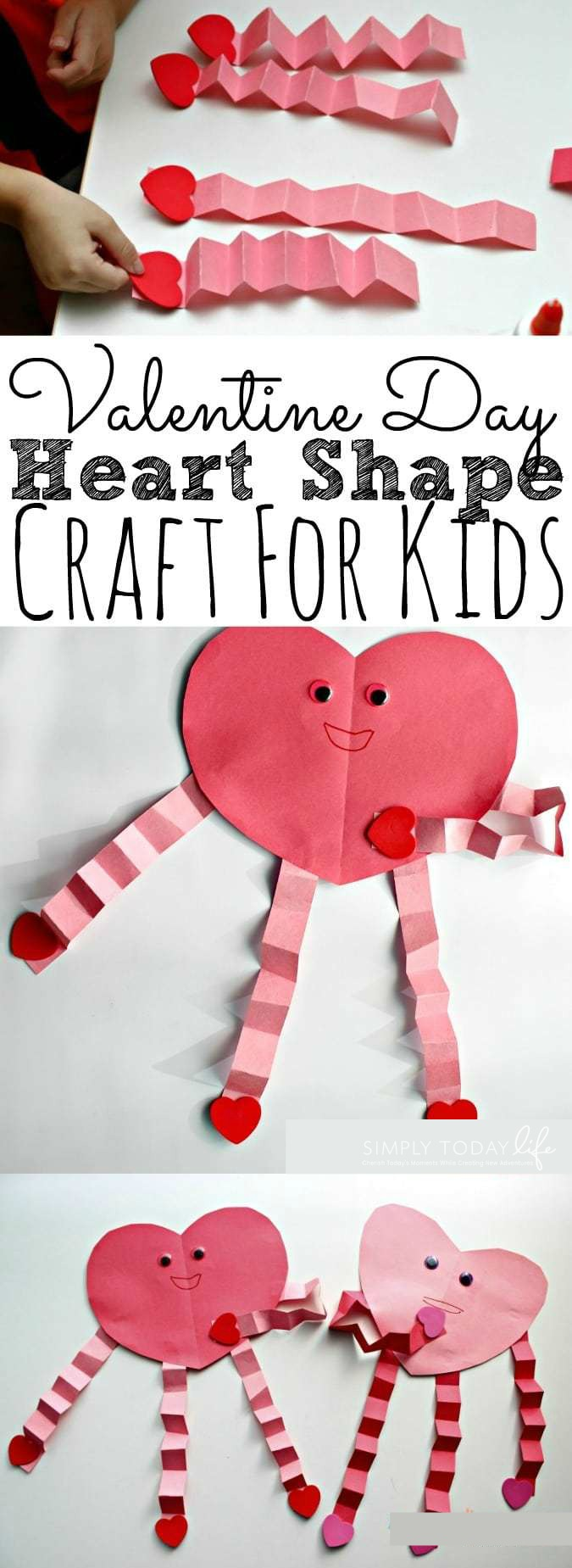 Easy and Cute Valentine's Day Heart Craft For Kids