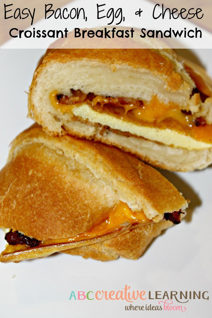 Easy Bacon, Egg, and Cheese Croissant Breakfast Sandwich