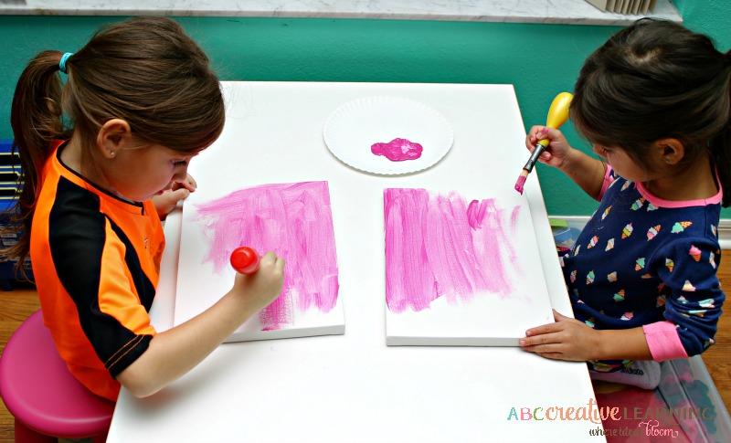 Valentine's Day Kids Handprint and Footprint LOVE Canvas Arts