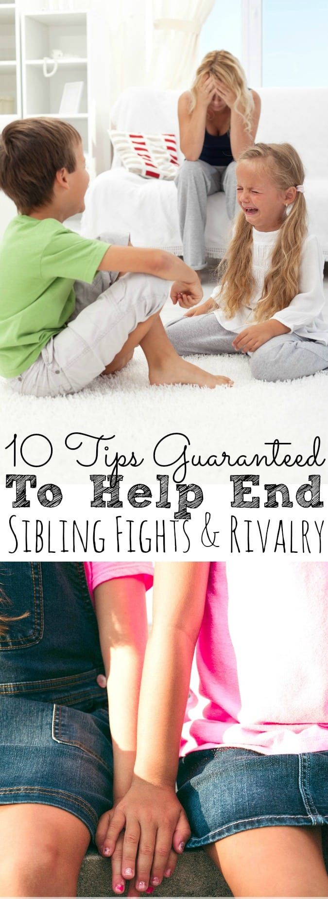 Dealing with your kids fighting can be very stressful and emotional for parents. That's why I'm sharing Sibling Fighting Solutions | 10 Tips Guaranteed To Help End Kids Arguing in your home! - simplytodaylife.com