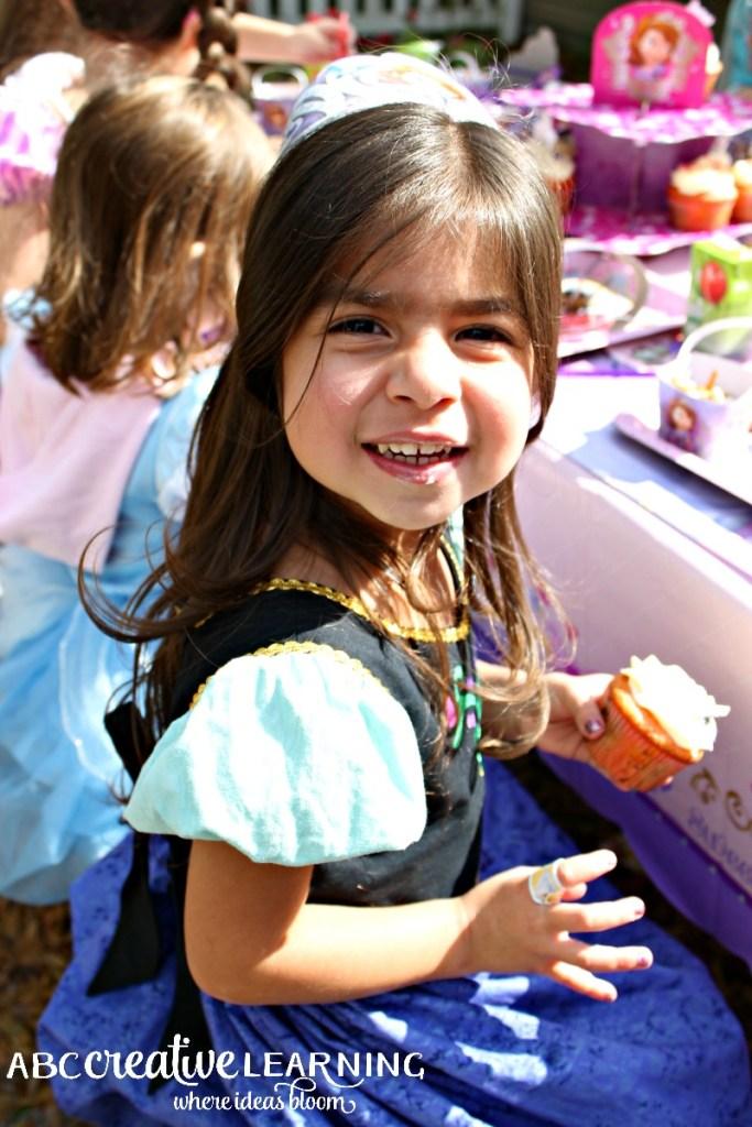 Hosting a Princess Tea Party #DisneySide Celebration Kaidence