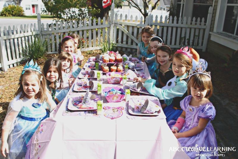 Hosting a Princess Tea Party #DisneySide Celebration Tea Time