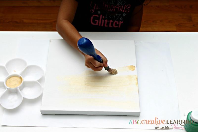 Shamrock Handprint Canvas Craft for Kid