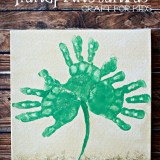 Shamrock Handprint Canvas Craft For Kids