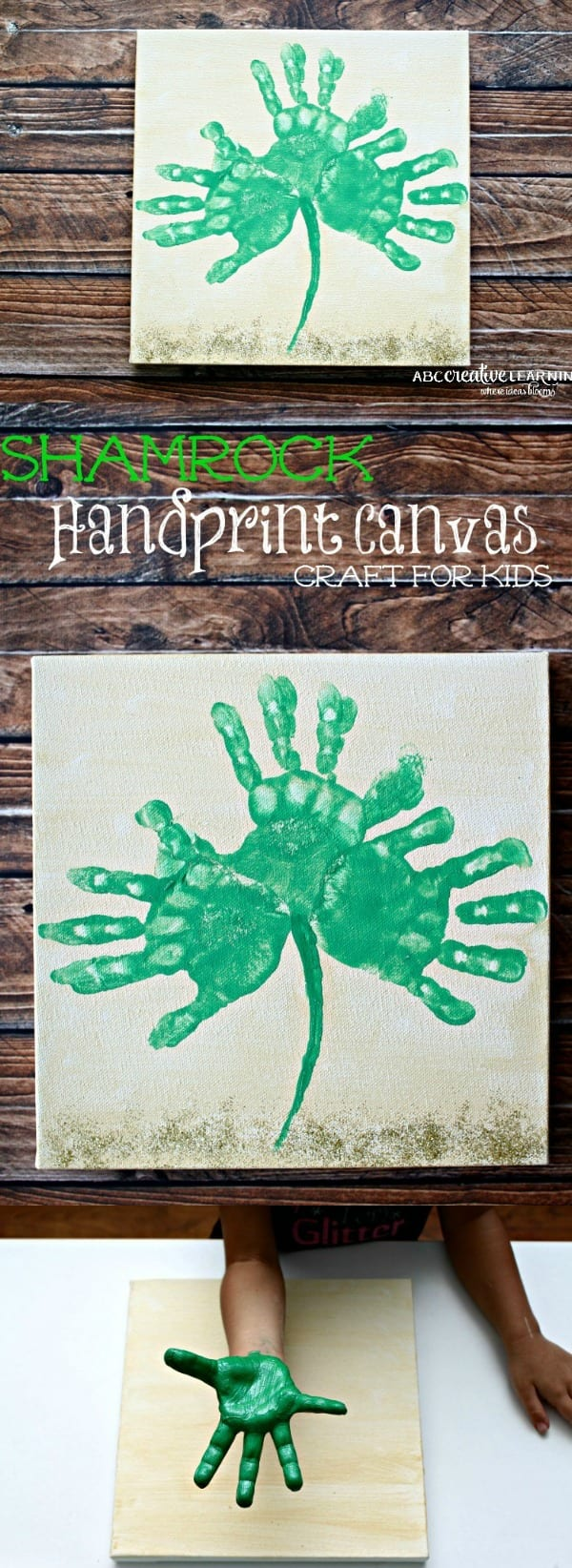 Shamrock Handprint Canvas Craft