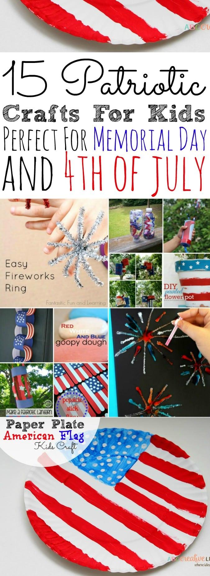 15 Patriotic Crafts For Kids - simplytodaylife.com