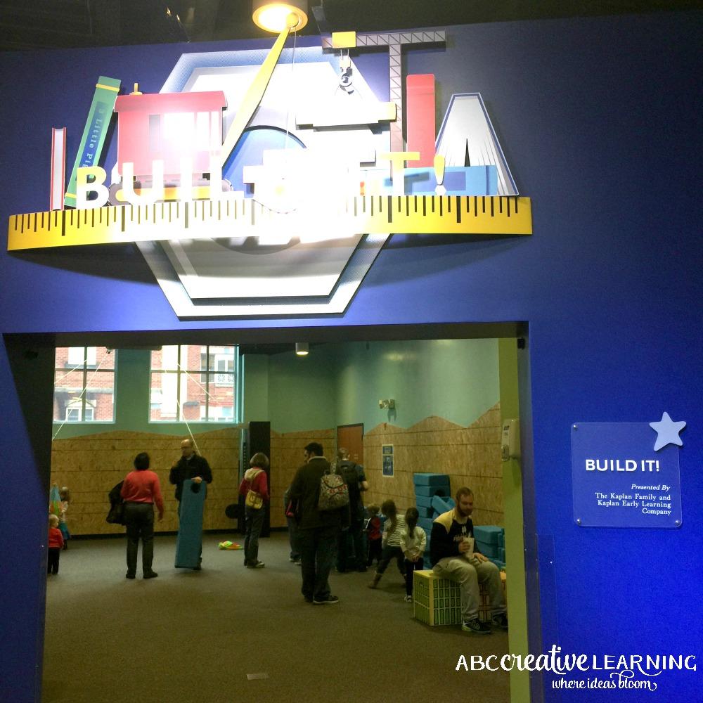Visiting the Children's Museum of Winston-Salem Build It Room