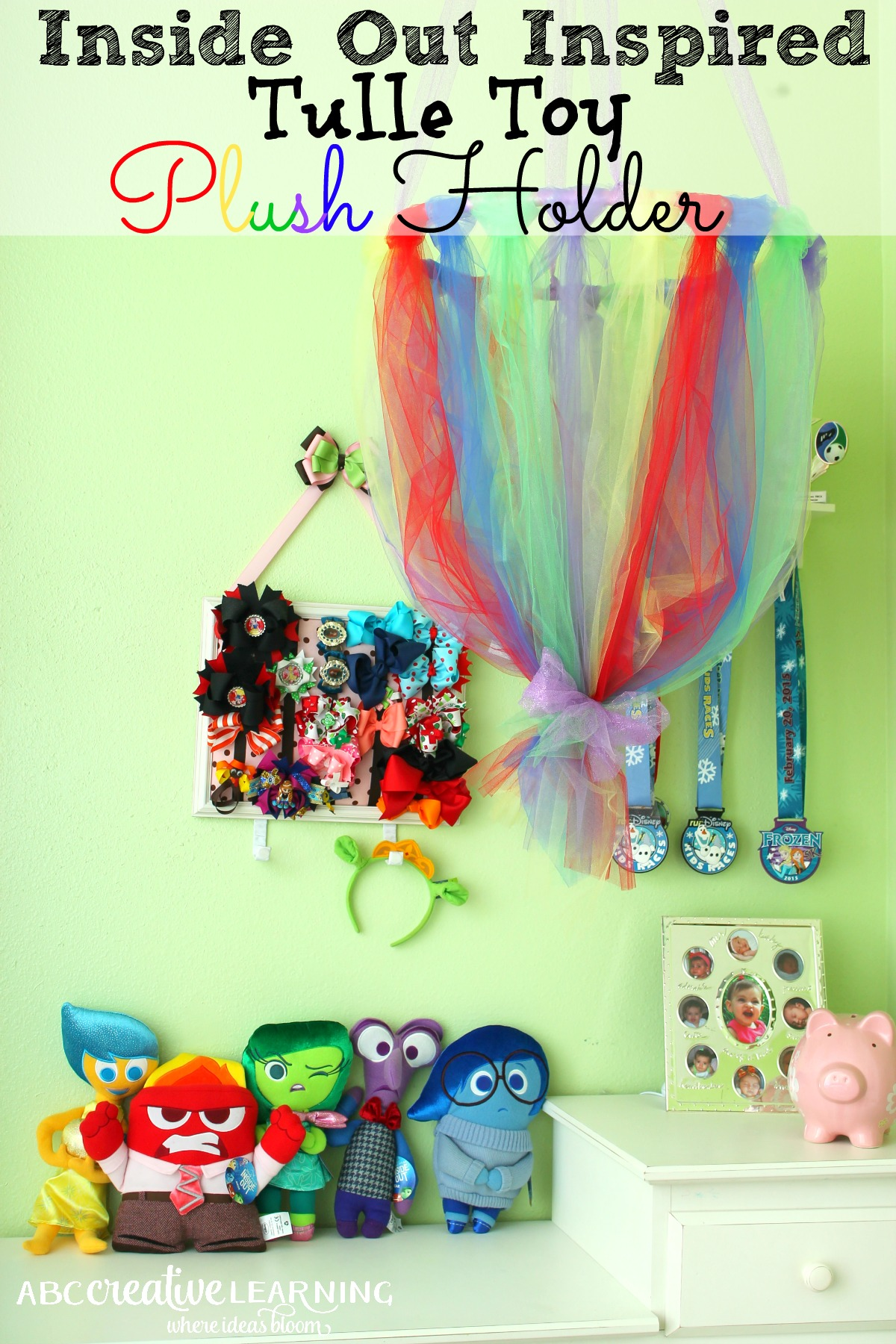 Inside Out Inspired Tulle Toy Plush Holder