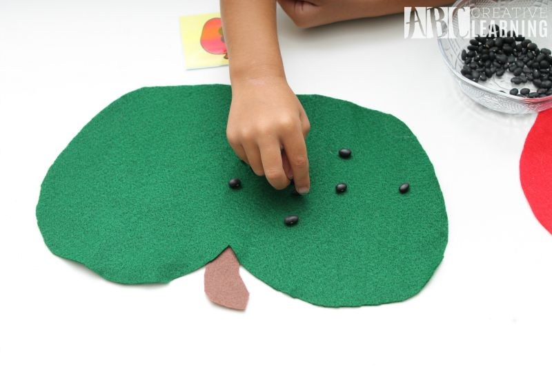 Back to School in Style and a Fall Apple Activity Counting Apple Seeds