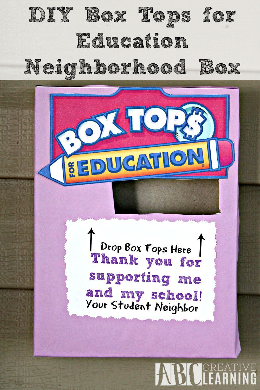 DIY Box Tops for Eduction Neighborhood Box Hung