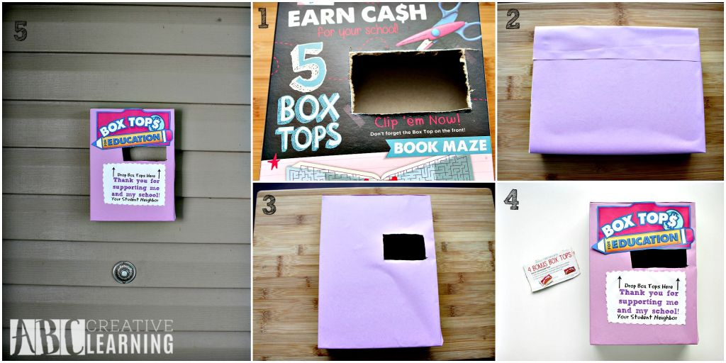 DIY Box Tops for Eduction Steps Box