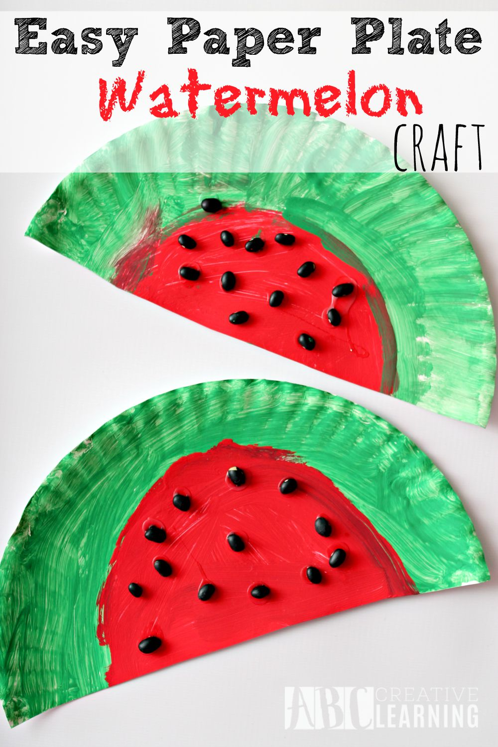 Easy Paper Plate Watermelon Craft