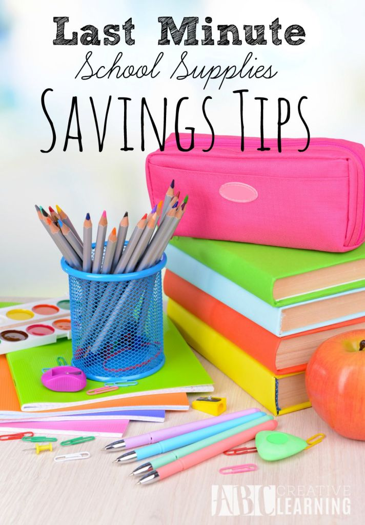 Still scrambling to find the best back to school deals? Check out these Last Minute School Supply Savings Tips that will save you not only cash, but your sanity. - abccreativelearning.com