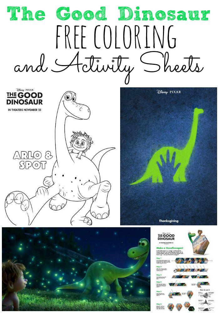The Good Dinosaur Free Coloring and Activity Sheets #GoodDino