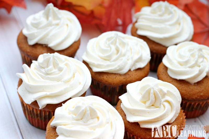 Caramel Pumpkin Spice Cupcakes with Marshmallow Frosting recipe