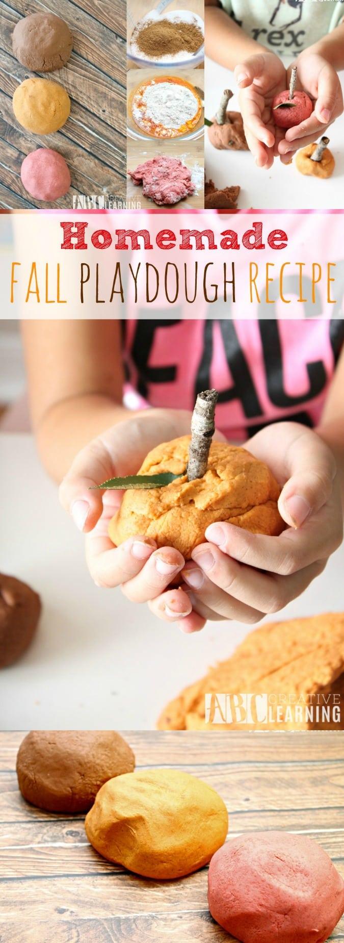 Homemade Fall Playdough Recipe