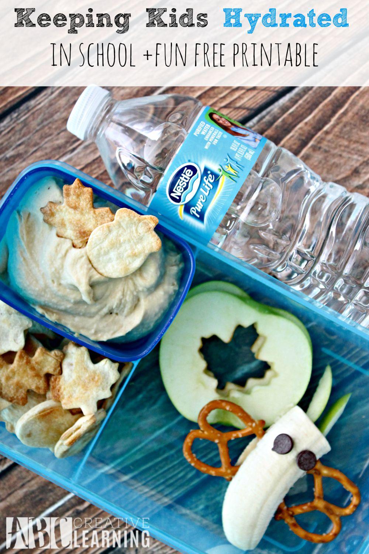 Keeping Kids Hydrated in School + Free Printables