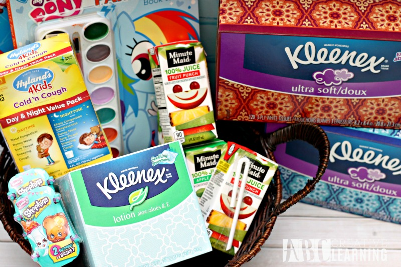 Cold and Flu Kids Care Package Kleenex facial tissues