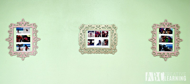 Easy DIY Wall Frames and Changeable Pictures frame