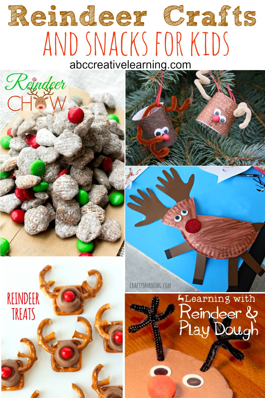 Reindeer Crafts and Snacks for Kids