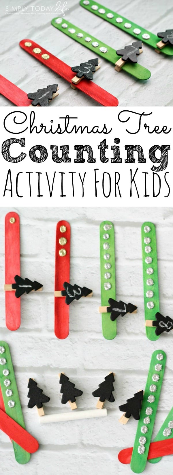 Christmas Tree Counting Activity For Kids