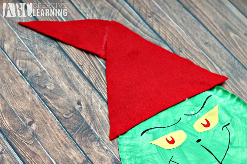 Grinch Paper Plate Craft hat
