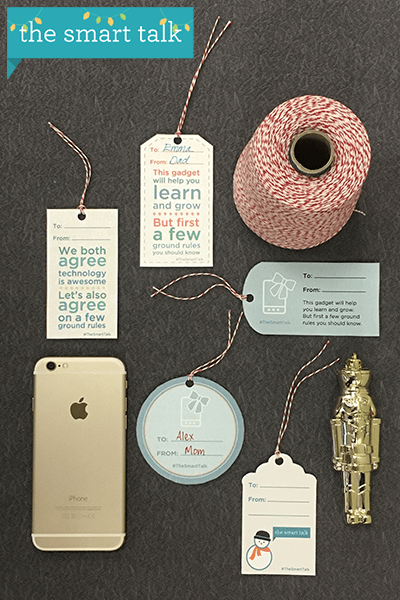 The Smart Talk holiday gift tags - vertical