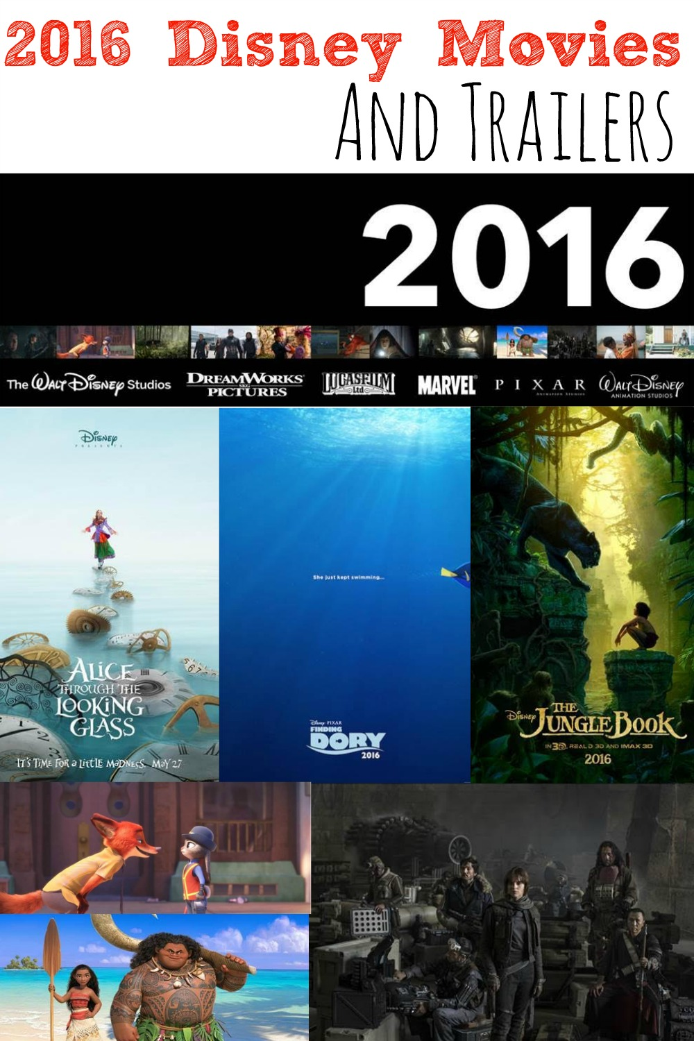 2016 Disney Movies and Trailers