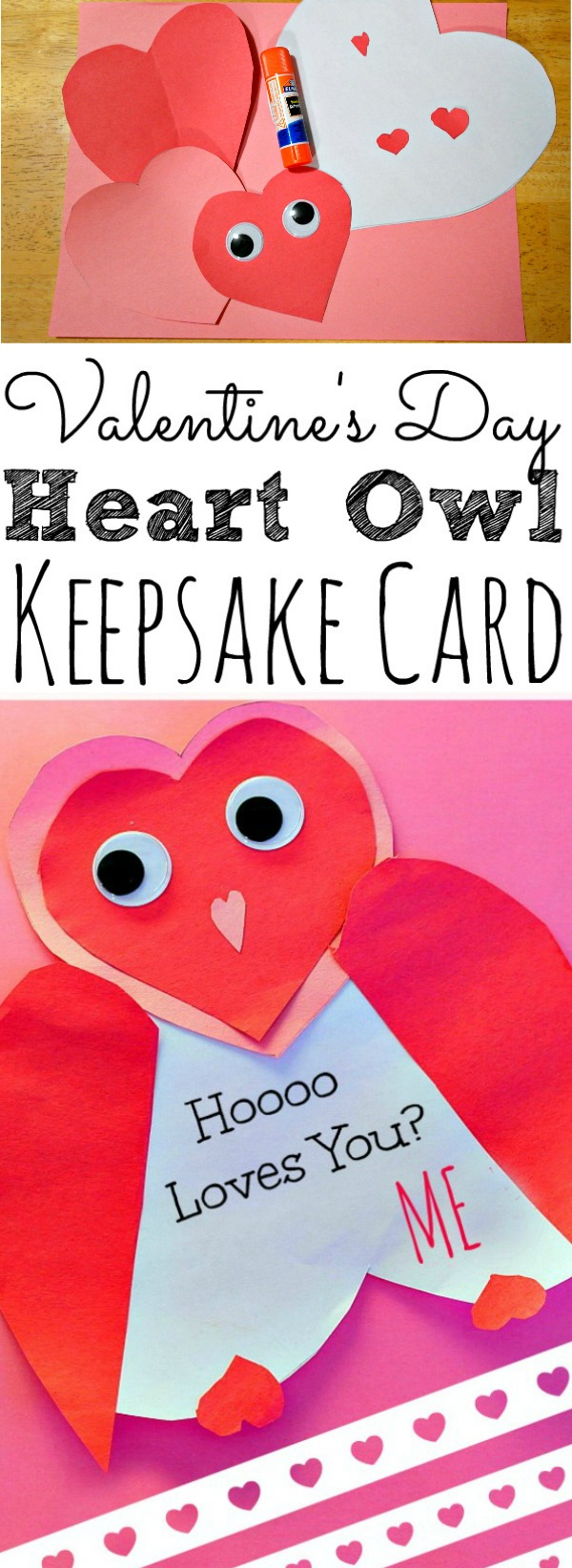 Valentines Day Owl Heart Keepsake Card