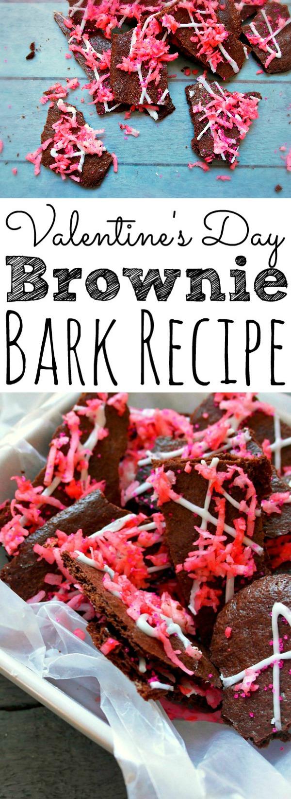 Valentine's Day Brownie Bark