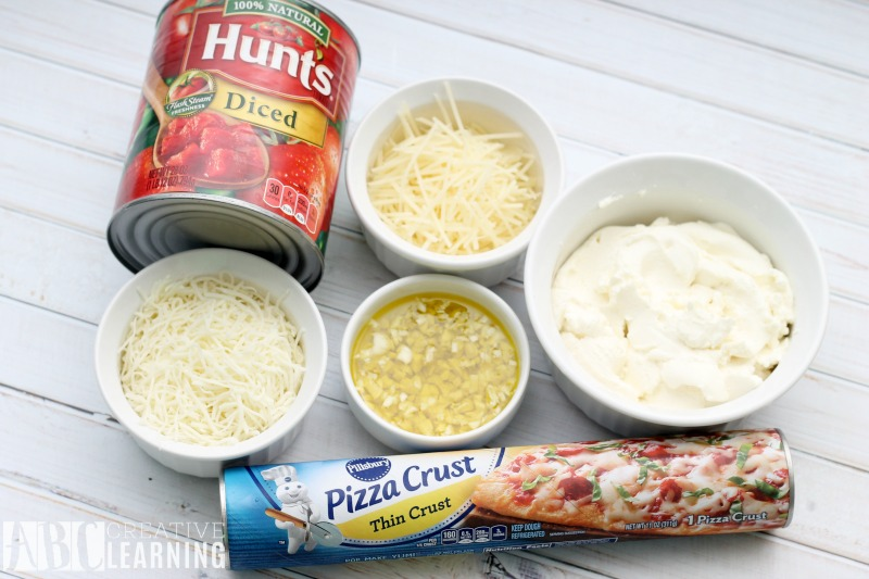 Garlic White Pizza Recipe with Diced Tomatoes + Paypal Giveaway Ingredients