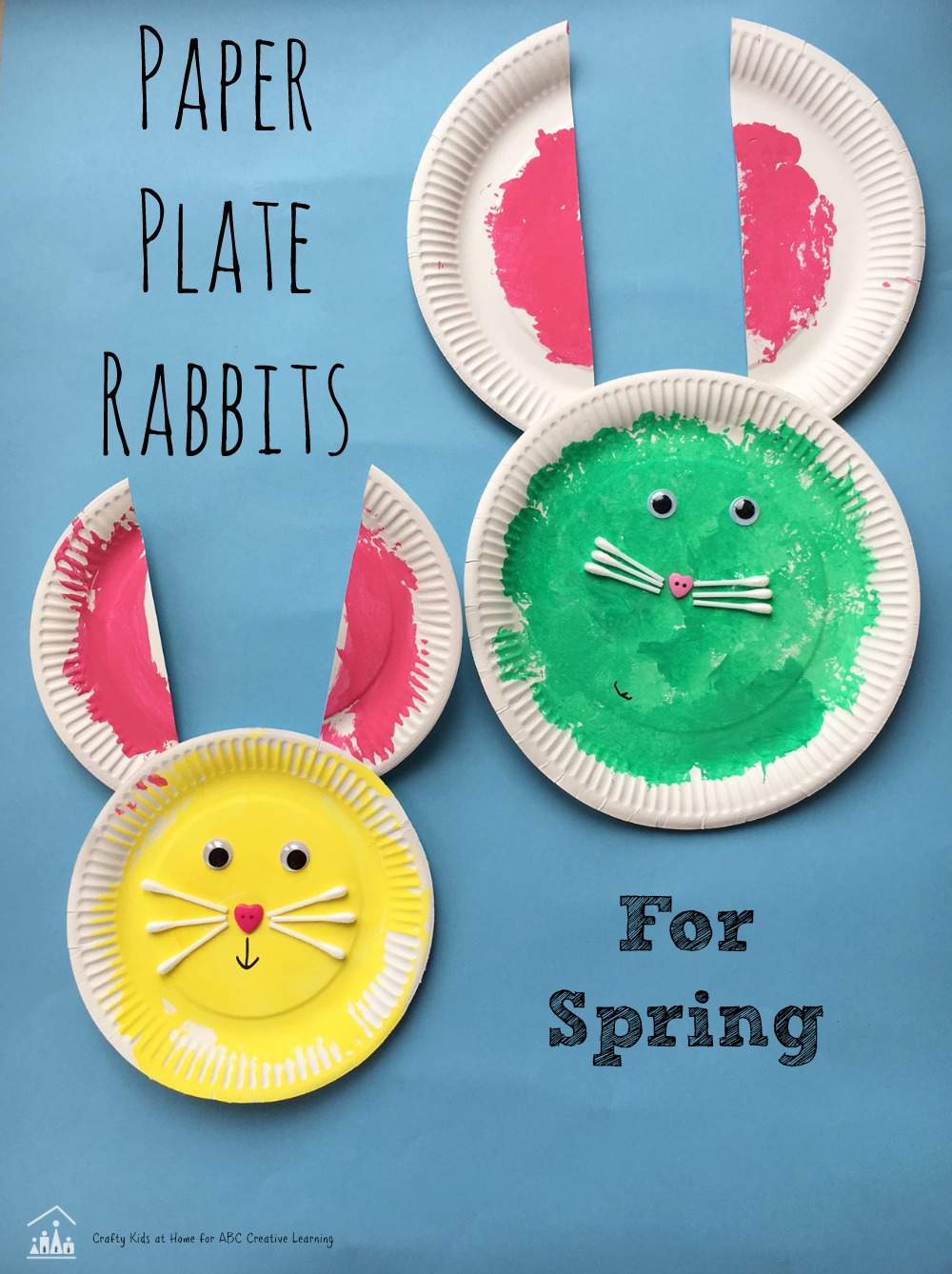 paper plate rabbits for spring PIN