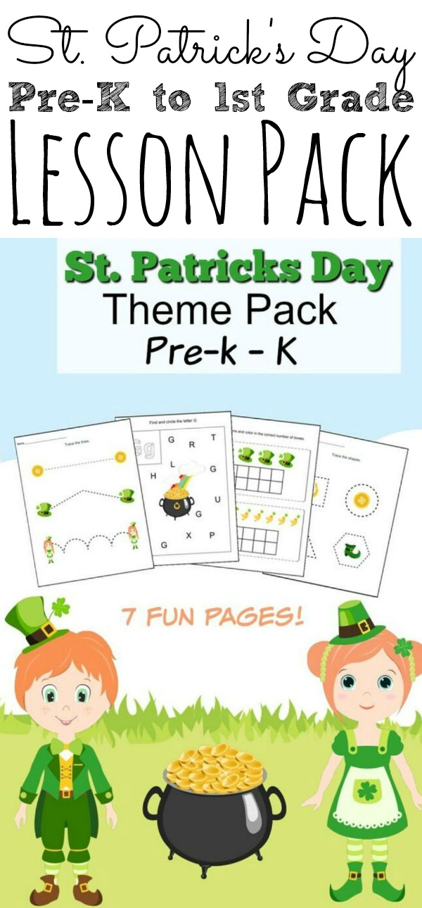 St. Patrick's Day Lesson Pack for Kids