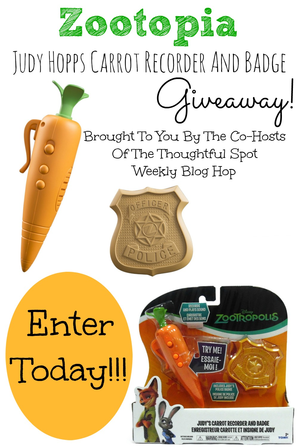 Thoughtful Spot Weekly Blog Hop Giveaway Zootopia