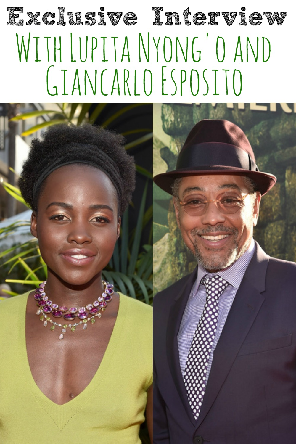 Exclusive Interview with Lupita Nyong'o and Giancarlo Esposito about the newest Disney live action film The Jungle Book!