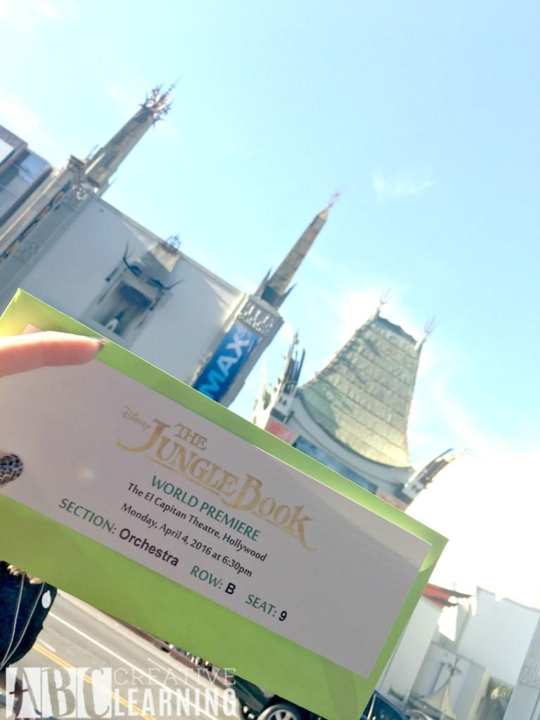 My #JungleBookEvent Red Carpet Movie Premier Experience Ticket