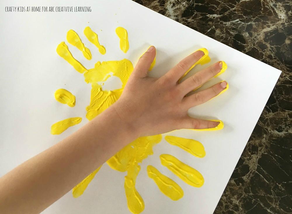Handprint Sunflowers