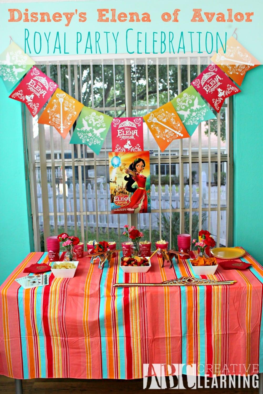 Disney's Elena of Avalor Royal Party Celebration - abccreativelearning.com