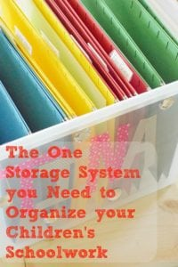 The One Storage System you Need to Organize your Children's Schoolwork