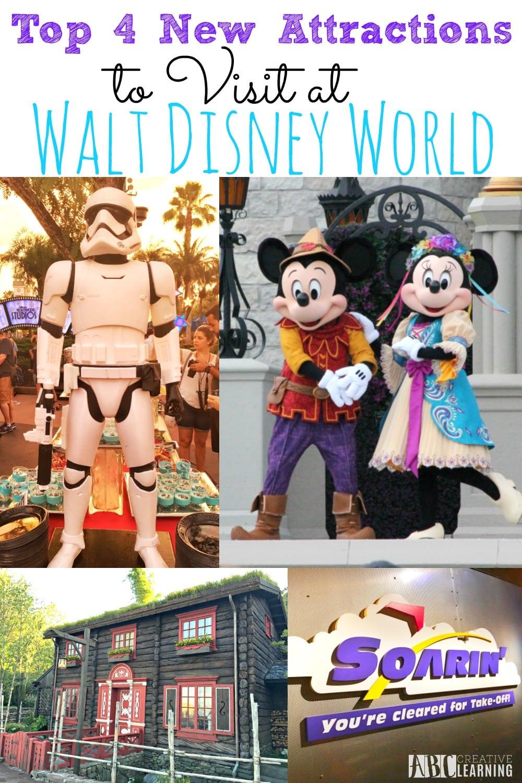 Top 4 New Attractions To Visit At Walt Disney World #AwakenSummer