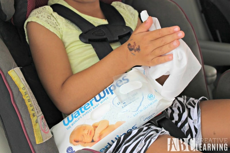 Cleaning Messes Safely On The Go With WaterWipes clean