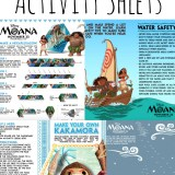 MOANA Activity and Coloring Pages