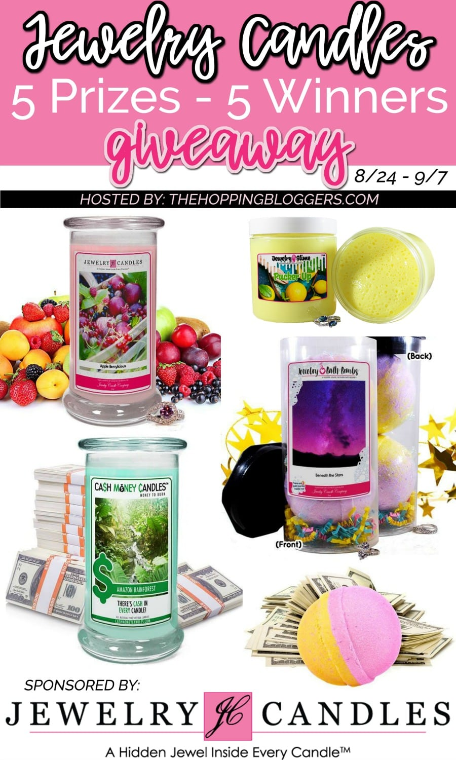 Jewelry Candles and Bath Bombs Giveaway - abccrreativelearning.com