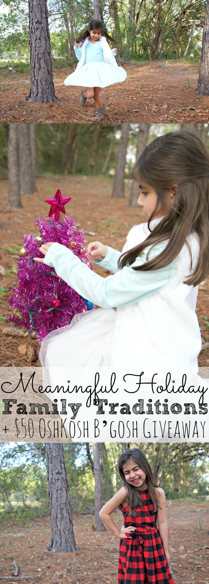 Meaningful Family Holiday Traditions + $50 OshKosh B'gosh Giveaway - simplytodaylife.com