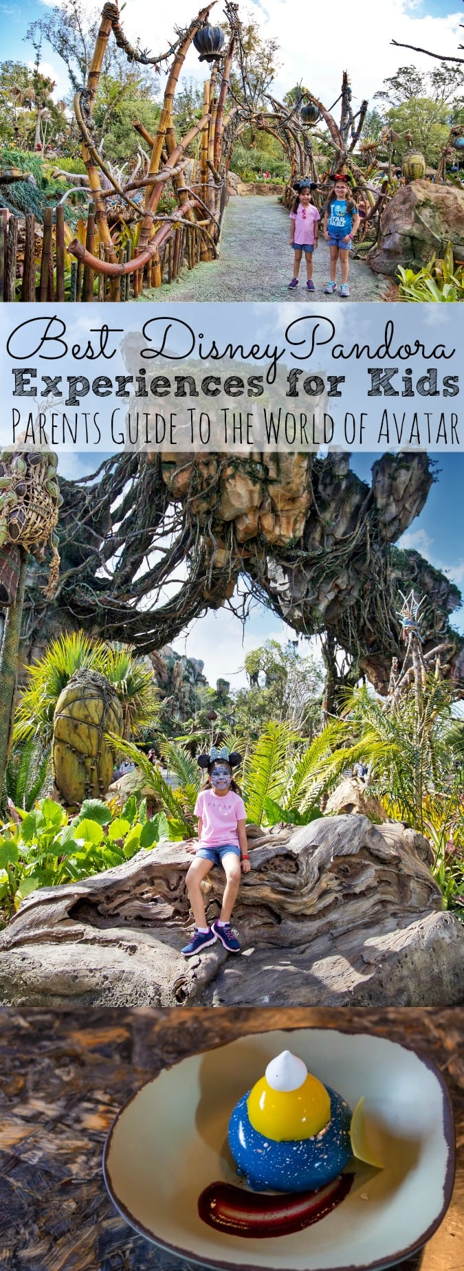 Are you planning a trip to Walt Disney World with kids? Check out the Best Disney Pandora Experiences For Kids   A Parents Guide To The World of Avatar at Animal Kingdom! From the food, the rides, the language, and so much more! My girls narrow down their top things to do at Pandora World of Avatar at Disney. - simplytodaylife.com