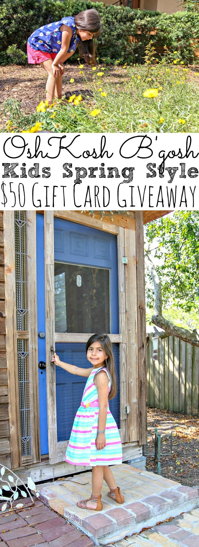OshKosh B'gosh Kids Spring Style Their Way + $50 Gift Card Giveaway